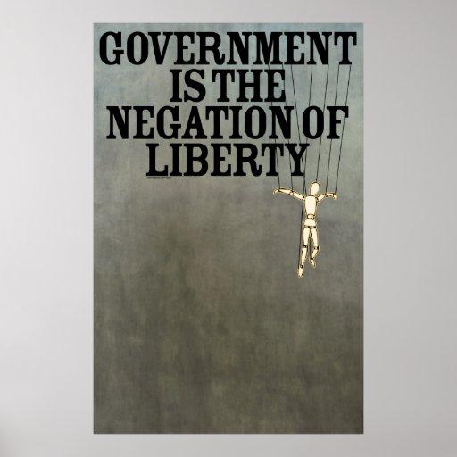 El gobierno es la negación de la impresión de la póster