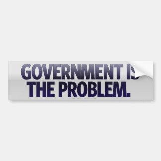 El gobierno es la pegatina para el parachoques del pegatina para auto