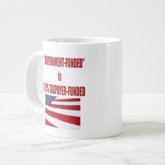 El gobierno Funded es taza de café financiada Taza Grande