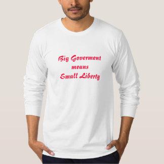 El gobierno grande significa pequeña libertad polera