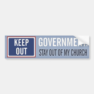 El gobierno guarda fuera de mi iglesia etiqueta de parachoque