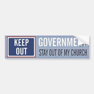 El gobierno guarda fuera de mi iglesia pegatina para auto
