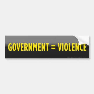 El gobierno iguala a la pegatina para el parachoqu pegatina para auto