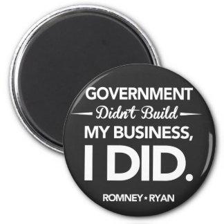 El gobierno no construyó mi botón del negro del ne imán redondo 5 cm
