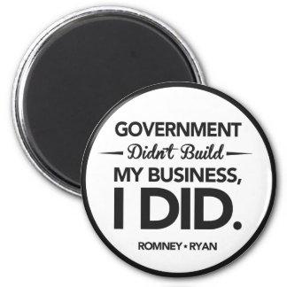 El gobierno no construyó mi frontera del negro del imán redondo 5 cm
