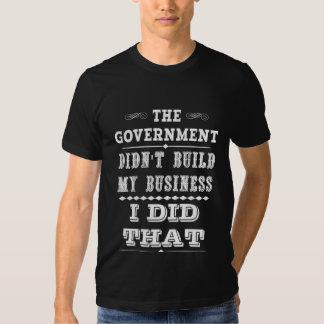 El gobierno no construyó mi negocio que hice eso camisas