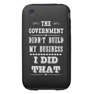 El gobierno no construyó mi negocio que hice eso iPhone 3 tough carcasas