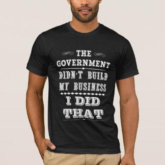 El gobierno no construyó mi negocio que hice eso playera