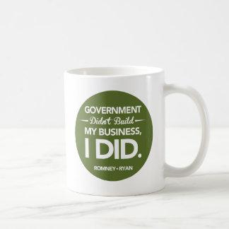 El gobierno no construyó mi negocio redondo (el taza de café