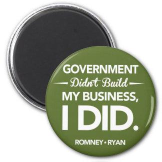 El gobierno no construyó mi negocio redondo (el ve imán redondo 5 cm