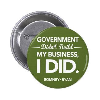 El gobierno no construyó mi negocio redondo (el ve pin redondo de 2 pulgadas