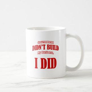 El gobierno no construyó mi negocio taza