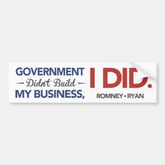 El gobierno no construyó por negocio, YO HIZO. Bla Pegatina Para Auto