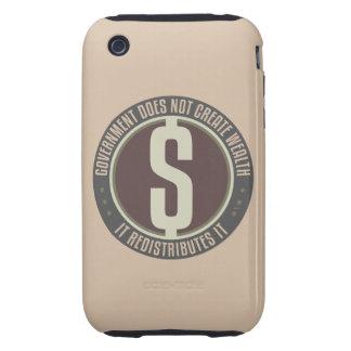 El gobierno no crea riqueza tough iPhone 3 coberturas