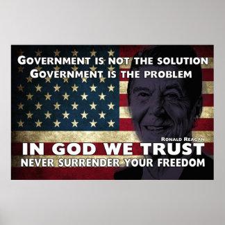 El gobierno no es la solución póster