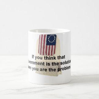 El gobierno no es la solución taza de café