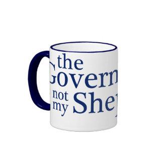 El gobierno no mi pastor tazas de café