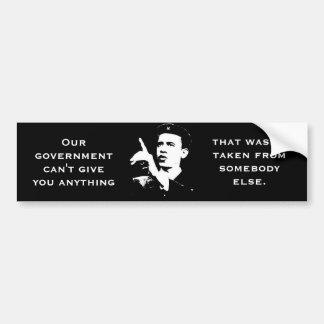 El gobierno no puede dar cualquier cosa no tomada etiqueta de parachoque