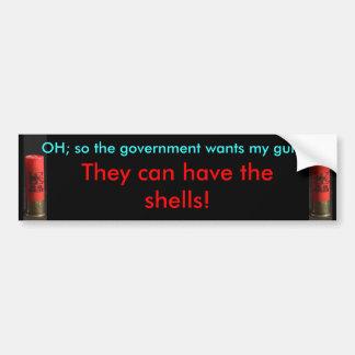 El gobierno puede tener las cáscaras - pegatina pa pegatina para auto