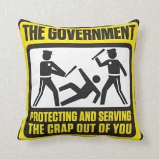 El gobierno que protege y que sirve almohada