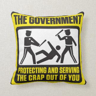 El gobierno que protege y que sirve cojín
