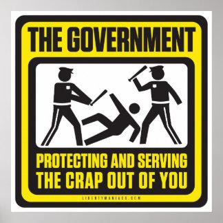 El gobierno que protege y que sirve impresiones