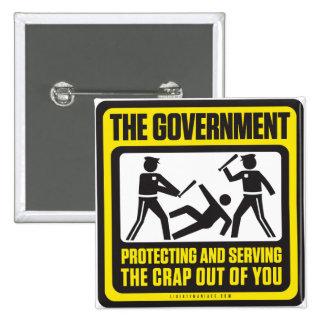 El gobierno que protege y que sirve pins