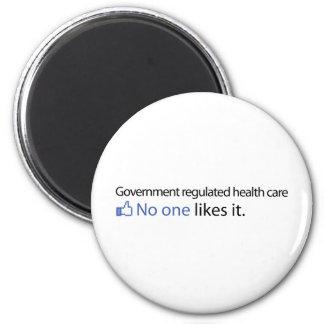 El gobierno reguló atención sanitaria imán redondo 5 cm