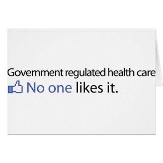 El gobierno reguló atención sanitaria tarjeta