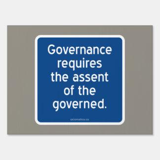 El gobierno requiere el asentimiento del gobernado cartel
