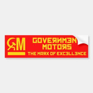 El gobierno viaja en automóvili a la pegatina para etiqueta de parachoque
