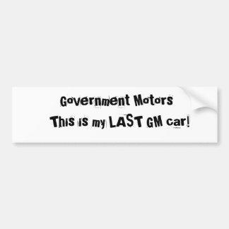 ¡El gobierno viaja en automóvili, esto es mi coche Pegatina Para Auto