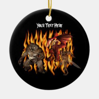 El Goblin del demonio del ogro flamea el ornamento Adorno Para Reyes