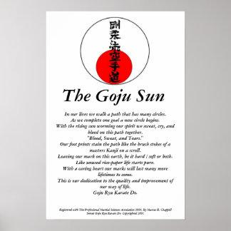 El Goju Sun Poster