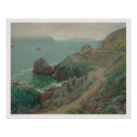 El Golden Gate del acantilado del océano (1154) Posters