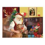 El golden retriever de Santa (#12) Postal