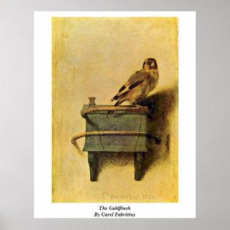 El Goldfinch. Por Carel Fabritius Poster