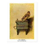 El Goldfinch. Por Carel Fabritius Tarjeta Postal