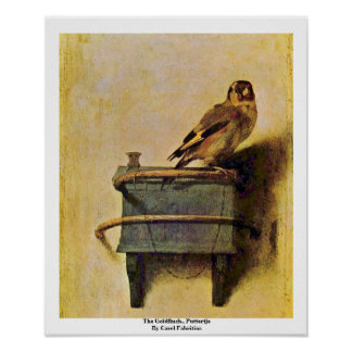 El Goldfinch Puttertje de Carel Fabritius Impresiones