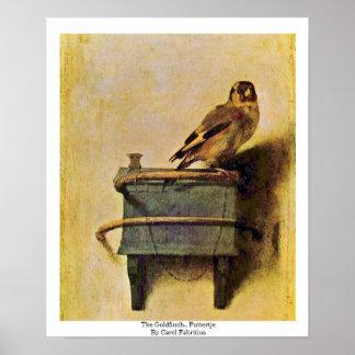 El Goldfinch., Puttertje de Carel Fabritius Poster