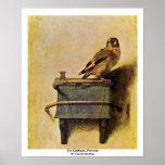El Goldfinch., Puttertje de Carel Fabritius Póster