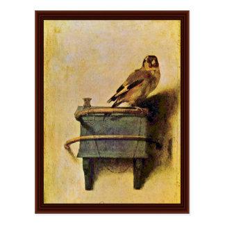 El Goldfinch Puttertje de Carel Fabritius Tarjeta Postal
