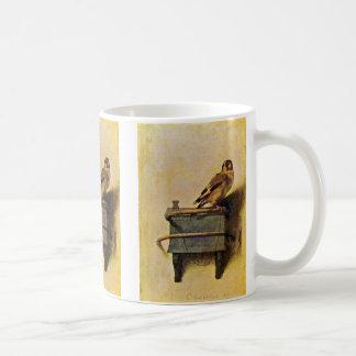 El Goldfinch Puttertje de Carel Fabritius Tazas