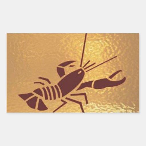 El Goldfish, cangrejo, cisne, pájaro, escorpión, Pegatina Rectangular