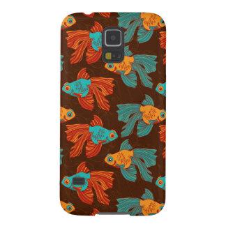 El Goldfish colorido Samsung encajona Fundas Para Galaxy S5