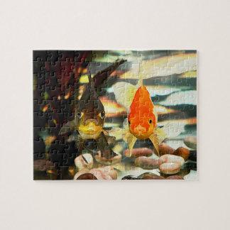 El Goldfish de lujo hace frente a imagen de la Puzzles