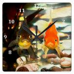 El Goldfish de lujo hace frente a imagen de la Reloj De Pared