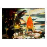 El Goldfish de lujo hace frente a imagen de la Felicitaciones