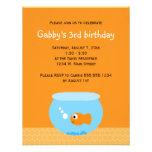 El Goldfish embroma invitaciones del cumpleaños Invitaciones Personales
