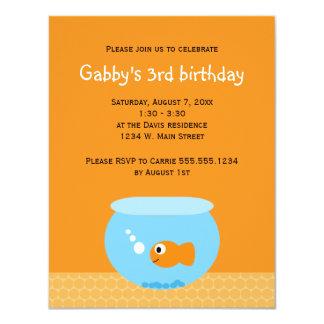"""El Goldfish embroma invitaciones del cumpleaños Invitación 4.25"""" X 5.5"""""""